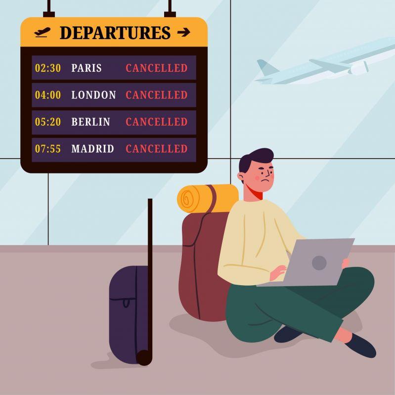 Gestrichene Flüge für Paris, London, Berlin und Madrid