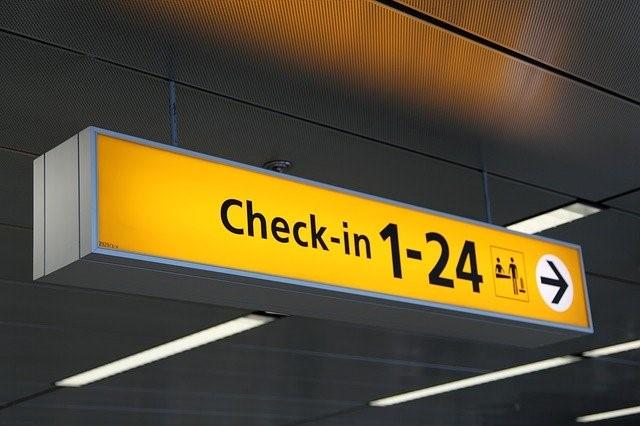 Wegweiser zum Check-In