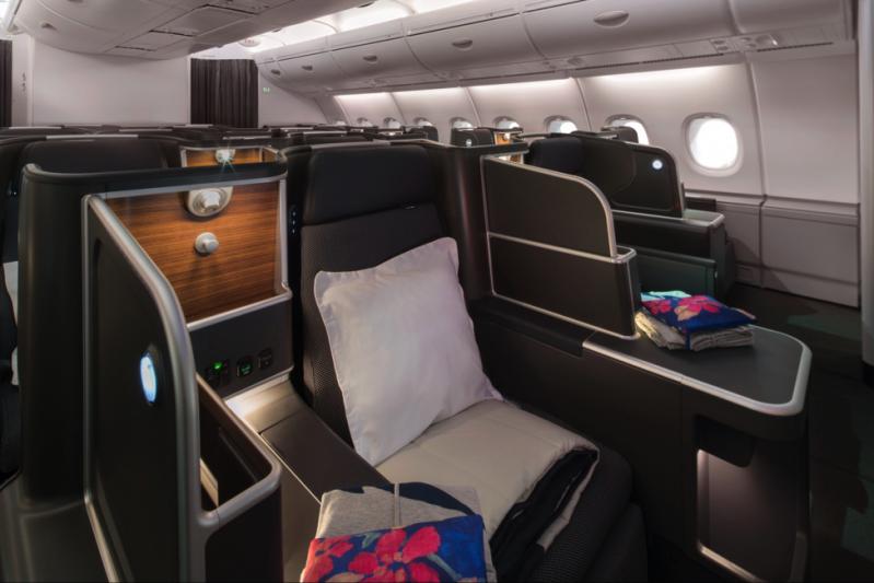 cabina clasei de afaceri a avionului aerian